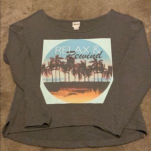 Long sleeve Relax and Rewind yoga sweater